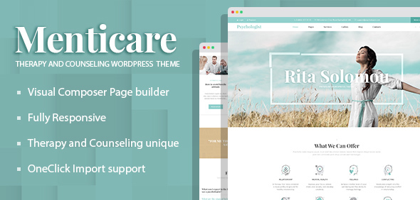 Wordpress Immobilien Template Menticare - Therapy and Counseling WordPress Theme