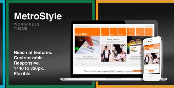 Wordpress Corporate Template MetroStyle Responsive All Purpose WordPress Theme