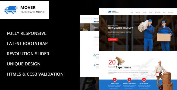 Wordpress Corporate Template Mover - Company WordPress Theme
