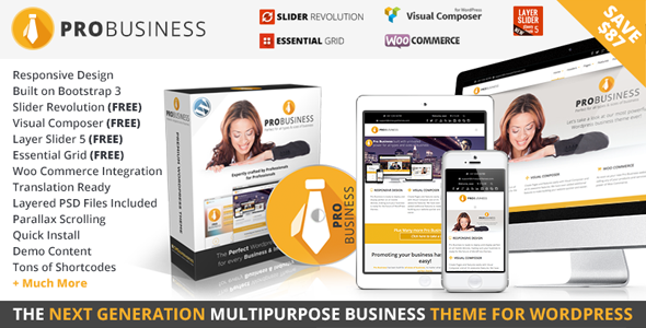 Wordpress Corporate Template PRO Business - Responsive Multi-Purpose Theme