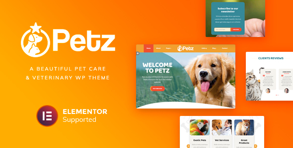 Wordpress Immobilien Template Petz - Pet Care & Veterinary Theme