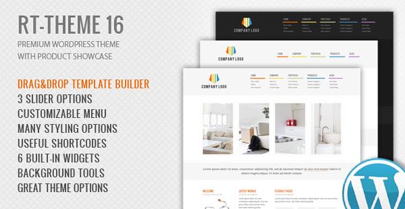 Wordpress Corporate Template RT-Theme 16 | Corporate WordPress Theme