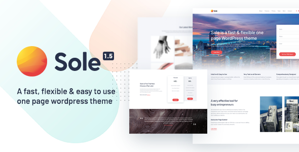 Wordpress Immobilien Template Sole - One Page WordPress Theme