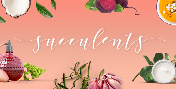 Wordpress Immobilien Template Succulents - Healthy Lifestyle and Wellness Theme