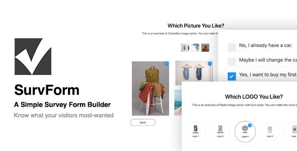 Wordpress Formular Plugin SurvForm - Survey Form Builder Plugin For WordPress