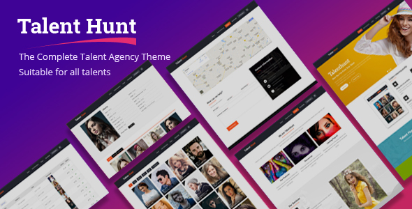 Wordpress Immobilien Template Talent Hunt -  Model Management WordPress CMS Theme