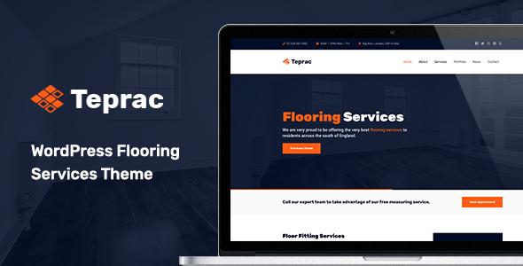 Wordpress Immobilien Template Teprac - WordPress Flooring Services Theme