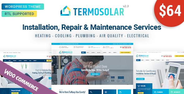Wordpress Immobilien Template Termosolar - Maintenance Services WordPress Theme