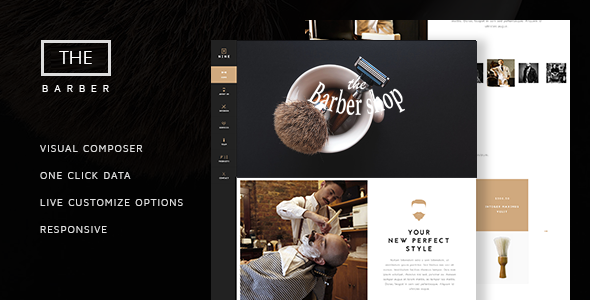 Wordpress Immobilien Template The Barber Shop - One Page Theme For Hair Salon