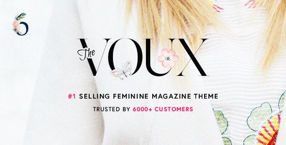 Wordpress Blog Template The Voux - A Comprehensive Magazine WordPress Theme