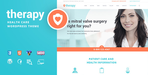 Wordpress Immobilien Template Therapy | Health and Medical WordPress Theme