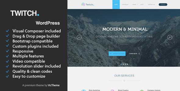 Wordpress Corporate Template Twitch - Multipurpose Business WordPress Theme