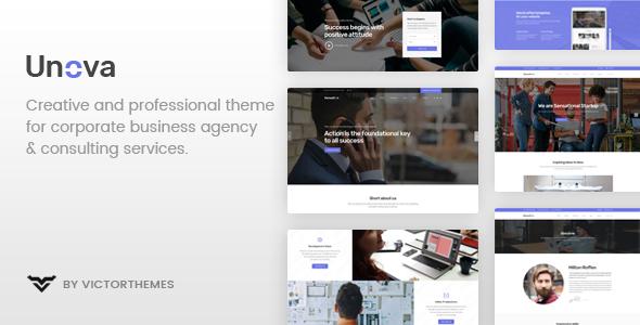 Wordpress Immobilien Template Unova - Consulting Business WordPress Theme