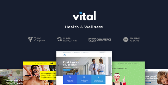 Wordpress Immobilien Template Vital | Health, Medical and Wellness WordPress Theme