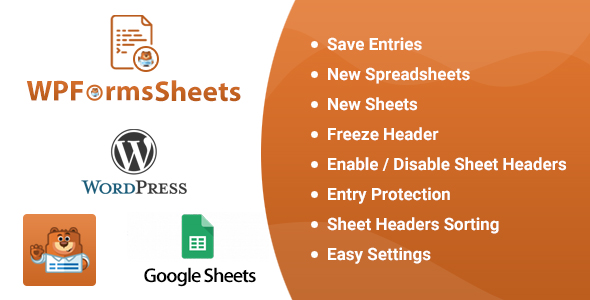 Wordpress Formular Plugin WPFormsSheets - WPForms Google Spreadsheet Addon
