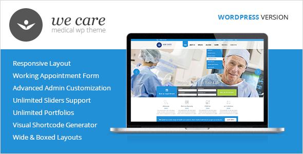 Wordpress Immobilien Template We Care - Medical & Health WordPress Theme