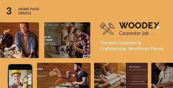 Wordpress Immobilien Template Woodex - Carpenter and Craftman Business WordPress Theme