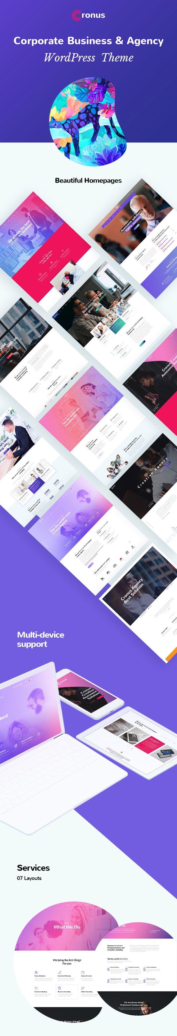 Cronus Plus - Corporate Business und Agentur WordPress Theme - 1