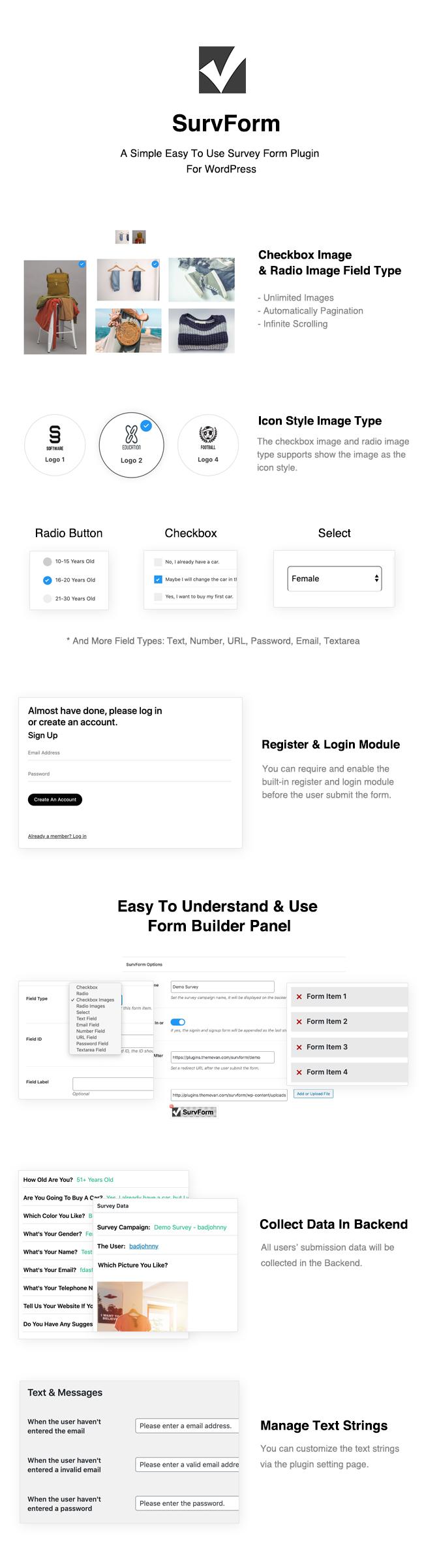 SurvForm - Survey Form Builder Plugin für WordPress - 1