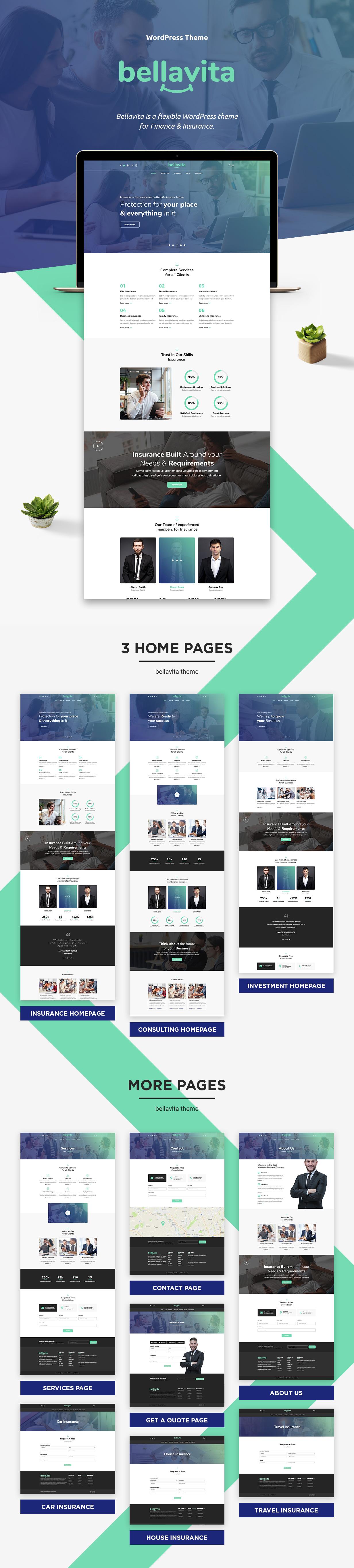 Bellavita - Versicherung & Finanzen WordPress Theme - 1