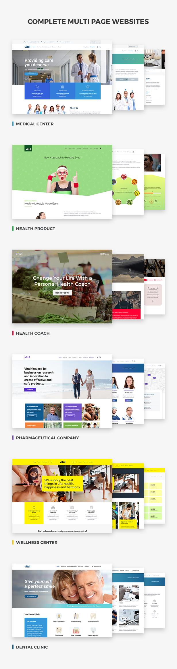 Vital | Gesundheit, Medizin und Wellness WordPress Theme - 2