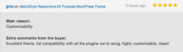 U-Bahn-Stil WordPress Theme Bewertung