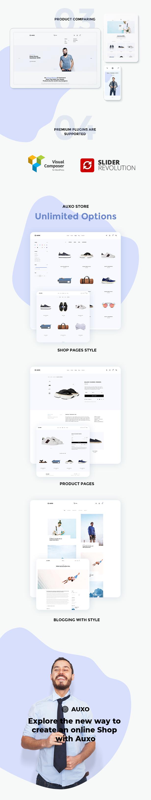 Auxo - Minial WooCommerce Shopping WordPress Theme - 10