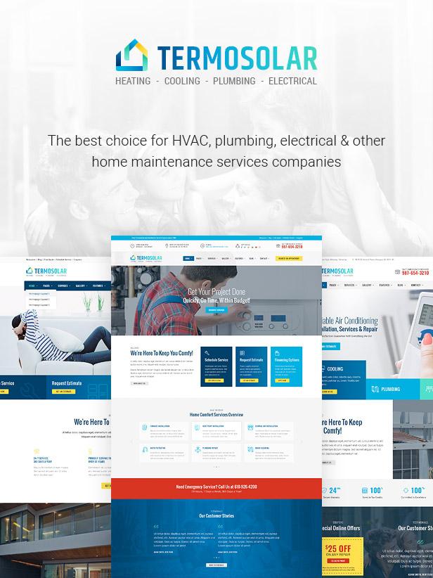 Termosolar - Wartungsdienste WordPress Theme