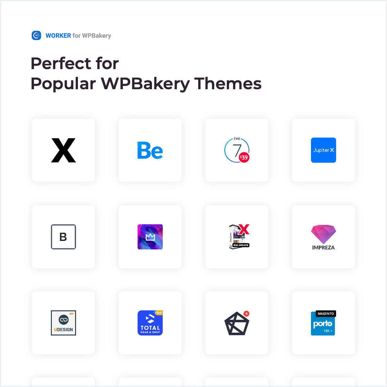 Worker-Widget - Perfekt für beliebte WPBakery-Themen
