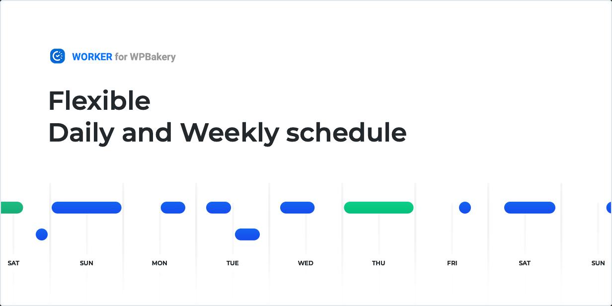 Flexibler Tages- und Wochenplan