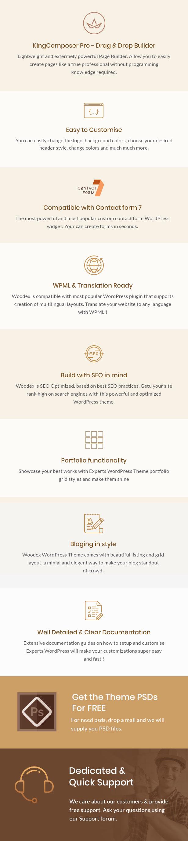 Woodex - Schreiner und Handwerker Business WordPress Theme - 2