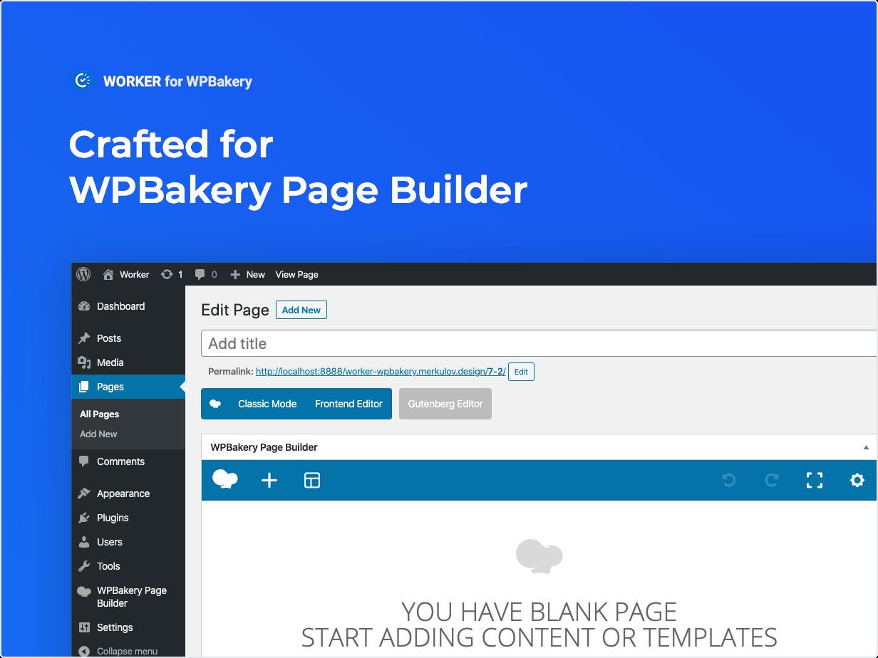 Entwickelt für WPBakery Page Builder