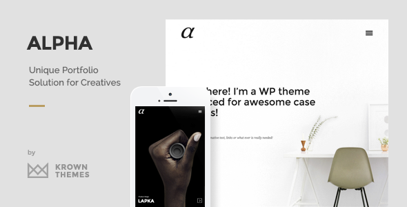 Wordpress Kreativ Template Alpha - The Unique Portfolio Theme for Creatives