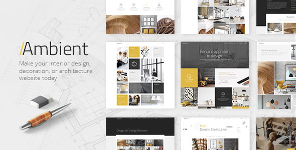 Wordpress Kreativ Template Ambient - Modern Interior Design and Decoration Theme