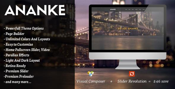 Wordpress Kreativ Template Ananke - One Page Parallax WordPress Theme