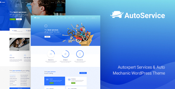 Wordpress Immobilien Template AutoService - A Car Repair Services & Auto Mechanics WordPress Theme