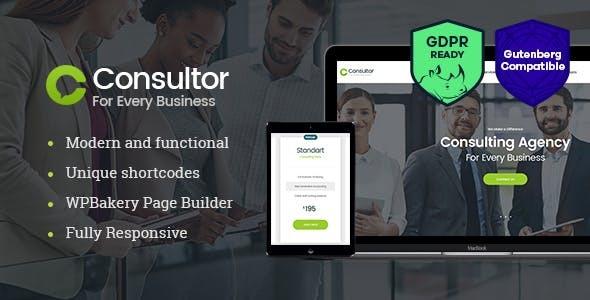 Wordpress Immobilien Template Consultor | A Business Financial Advisor WordPress Theme