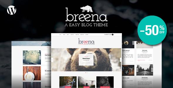 Wordpress Blog Template Breena - A Responsive WordPress Blog Theme