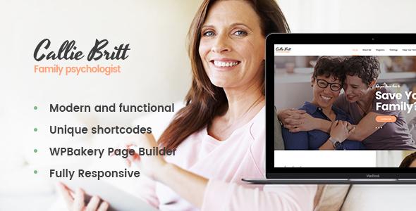 Wordpress Immobilien Template Callie Britt | Family Counselling Psychology WordPress Theme