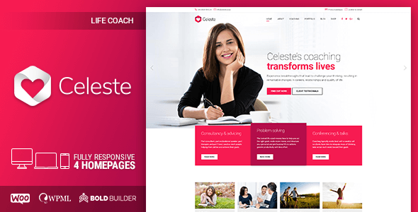 Wordpress Immobilien Template Celeste - Life Coach & Therapist