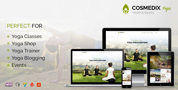 Wordpress Immobilien Template Cosmedix - Health Beauty & Yoga WordPress Theme