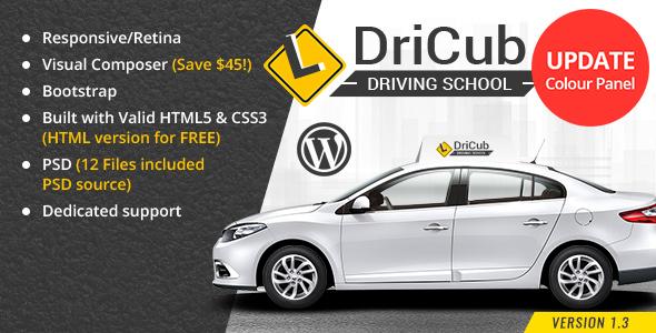 Wordpress Immobilien Template DriCub - Driving School WordPress Theme