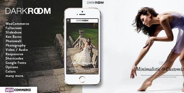 Wordpress Kreativ Template Darkroom | Photography Theme for WordPress
