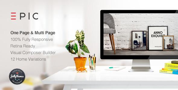 Wordpress Kreativ Template EPIC - Responsive Multi-Purpose Theme