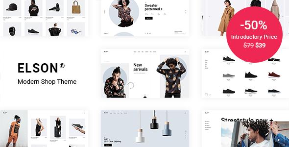 Wordpress Shop Template Elson - Modern Shop Theme
