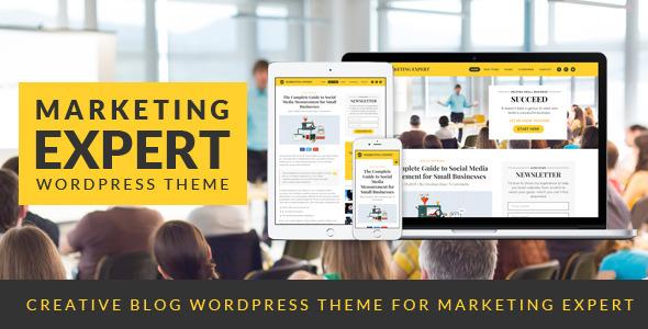 Wordpress Blog Template Expert - Blog WordPress Theme for Marketer
