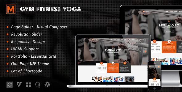 Wordpress Immobilien Template Gym Fitness Yoga - Maniva WordPress Theme