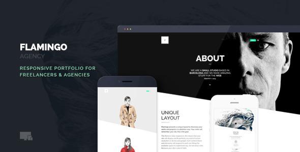 Wordpress Kreativ Template Flamingo - Agency & Freelance Portfolio Theme for WordPress