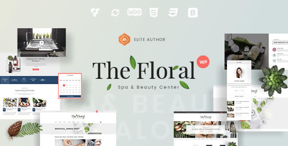 Wordpress Immobilien Template Floral - Spa and Beauty Responsive WordPress Theme