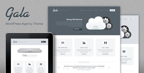 Wordpress Kreativ Template Gala, a Tasty Mac-inspired Agency WordPress Theme